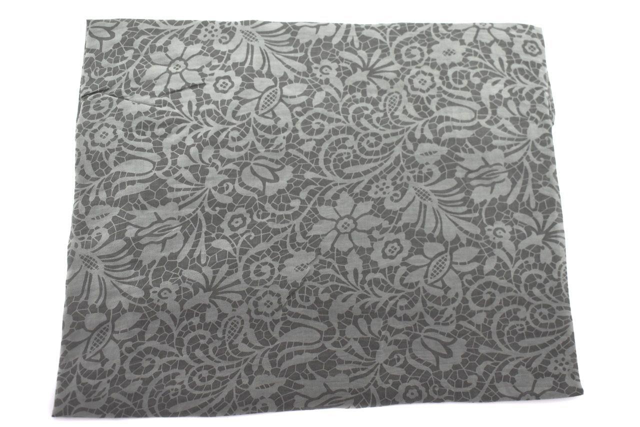 Dámský šátek Made in Italy  s květovaným vzorem - khaki