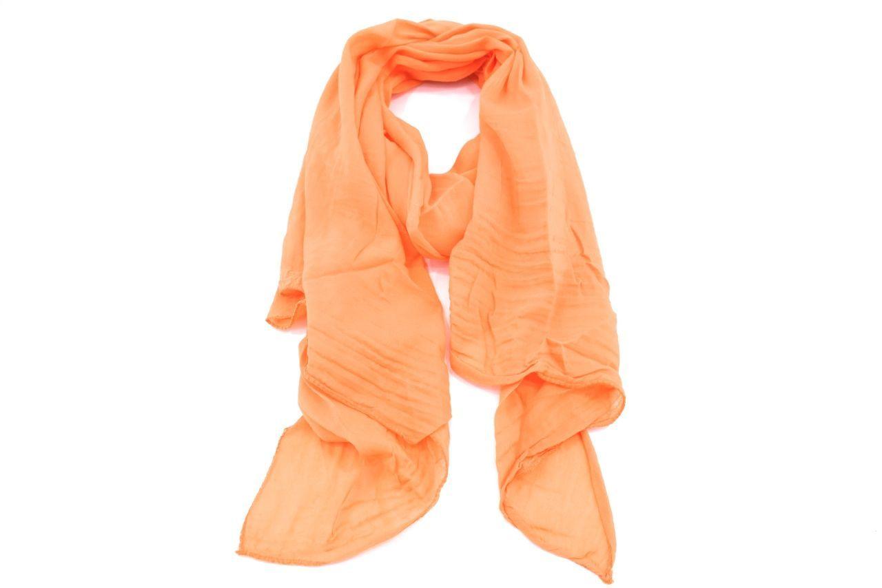 Dámský jednobarevný šátek Made in Italy - světle šedá