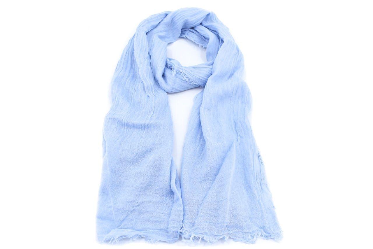 Dámský jednobarevný šátek - světle modrá
