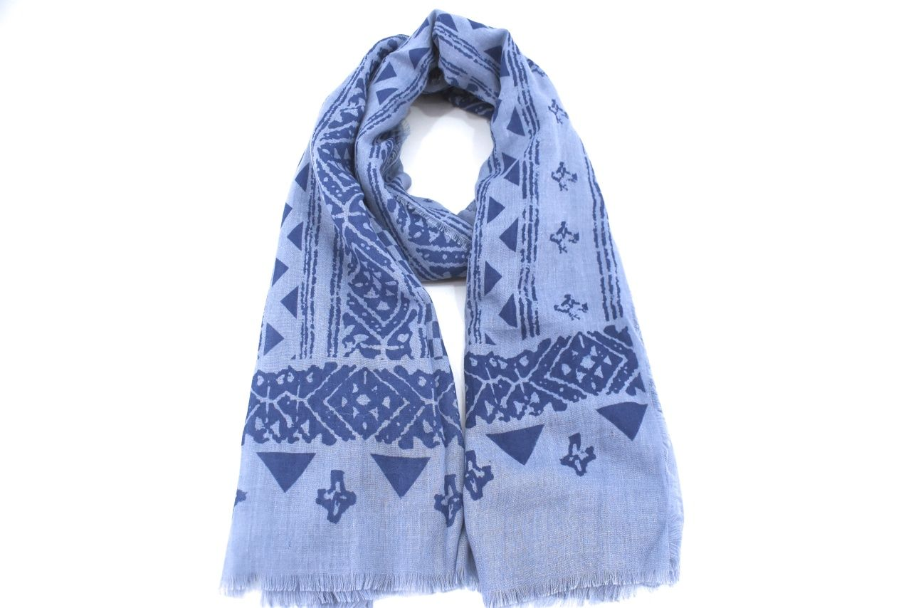 Moderní dámský šátek s potiskem - modrá