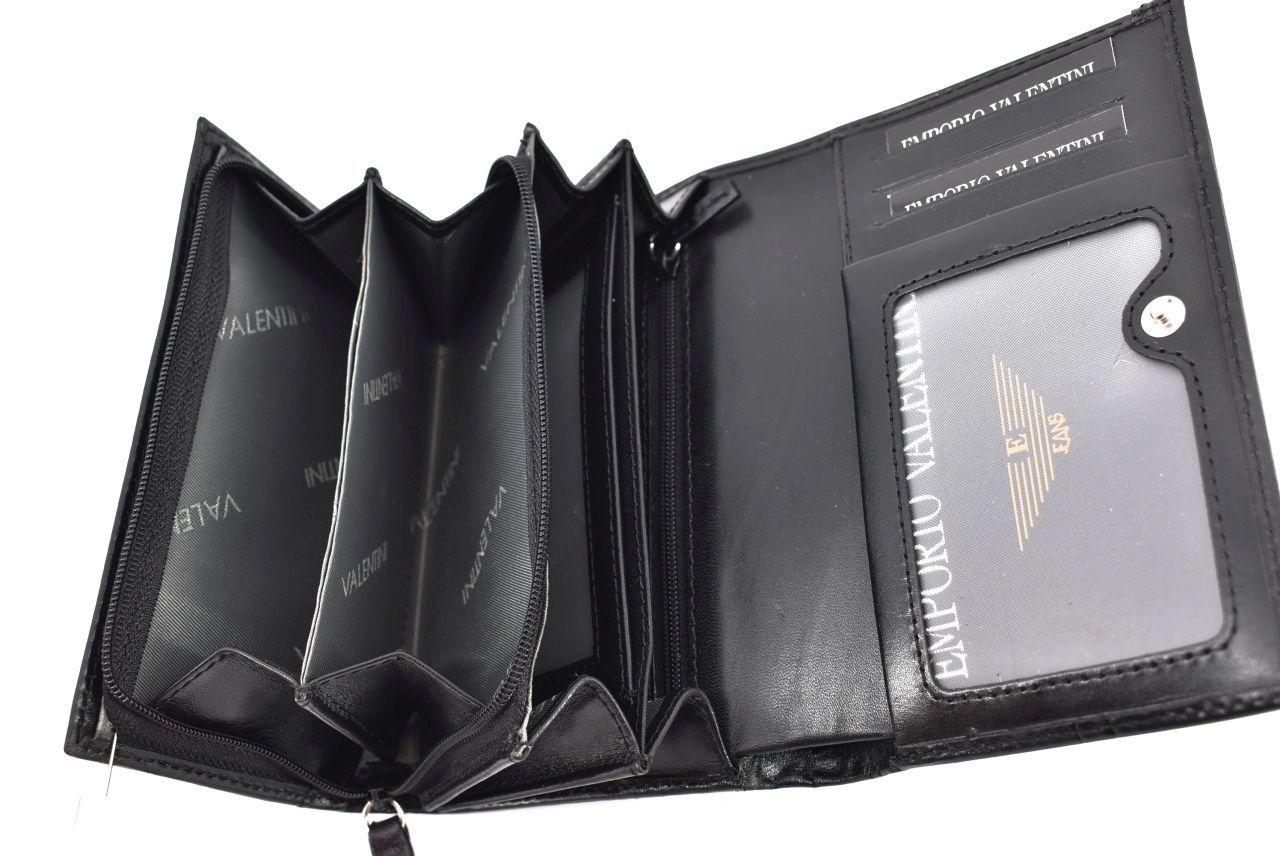 Dámská kožená peněženka Valentini - černá 32138