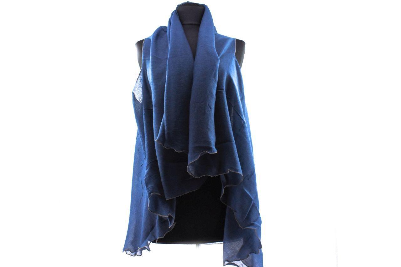 Dámský pareo šátek - tmavě modrá