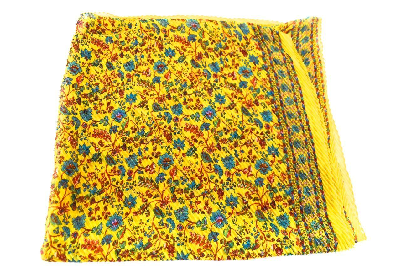 Dámský pareo plážový šátek hedvábný - žlutá