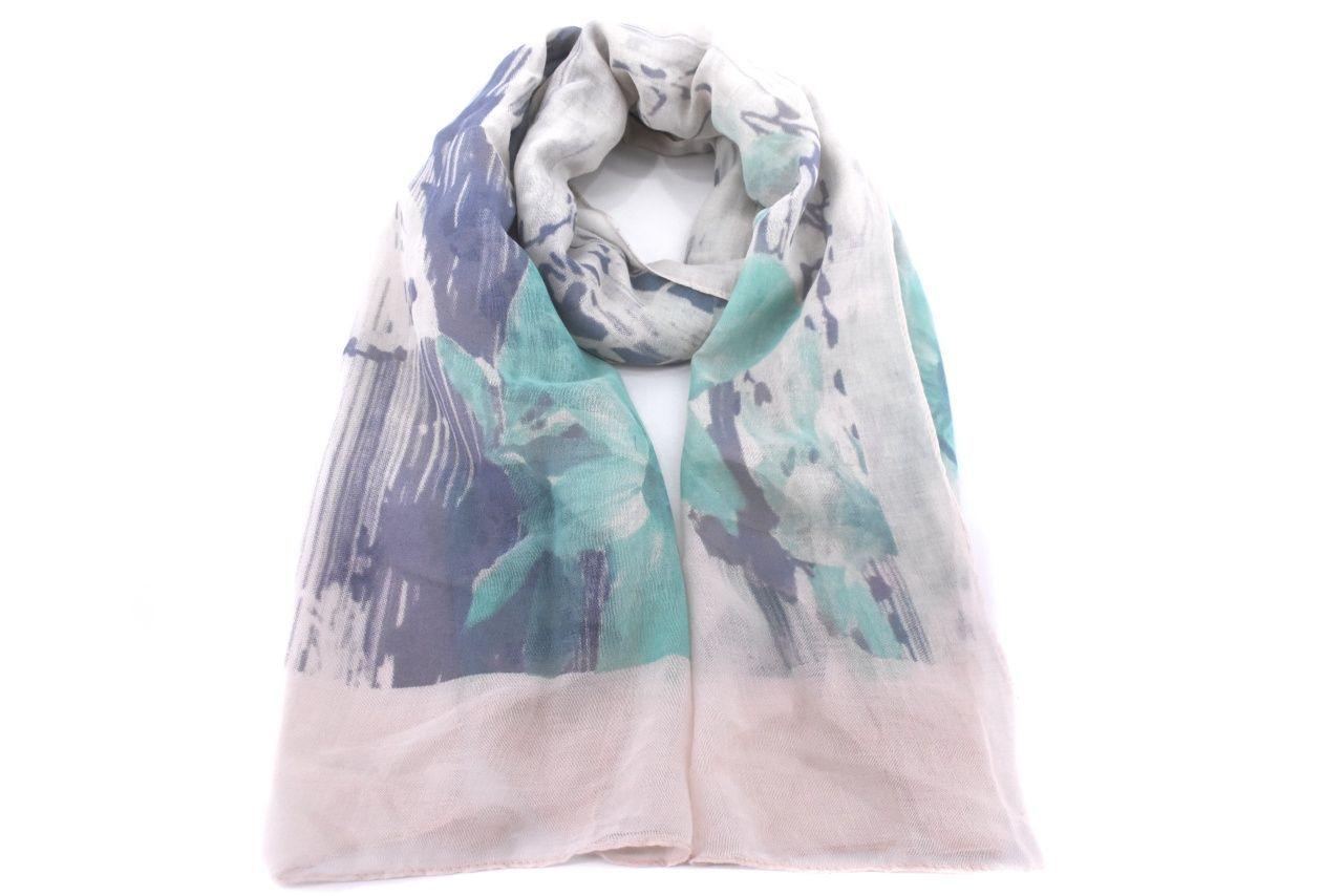 Dámský šátek s potiskem - zelená