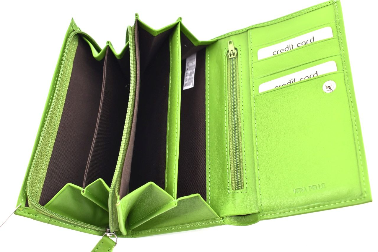 Dámská kožená peněženka hnědá 27725