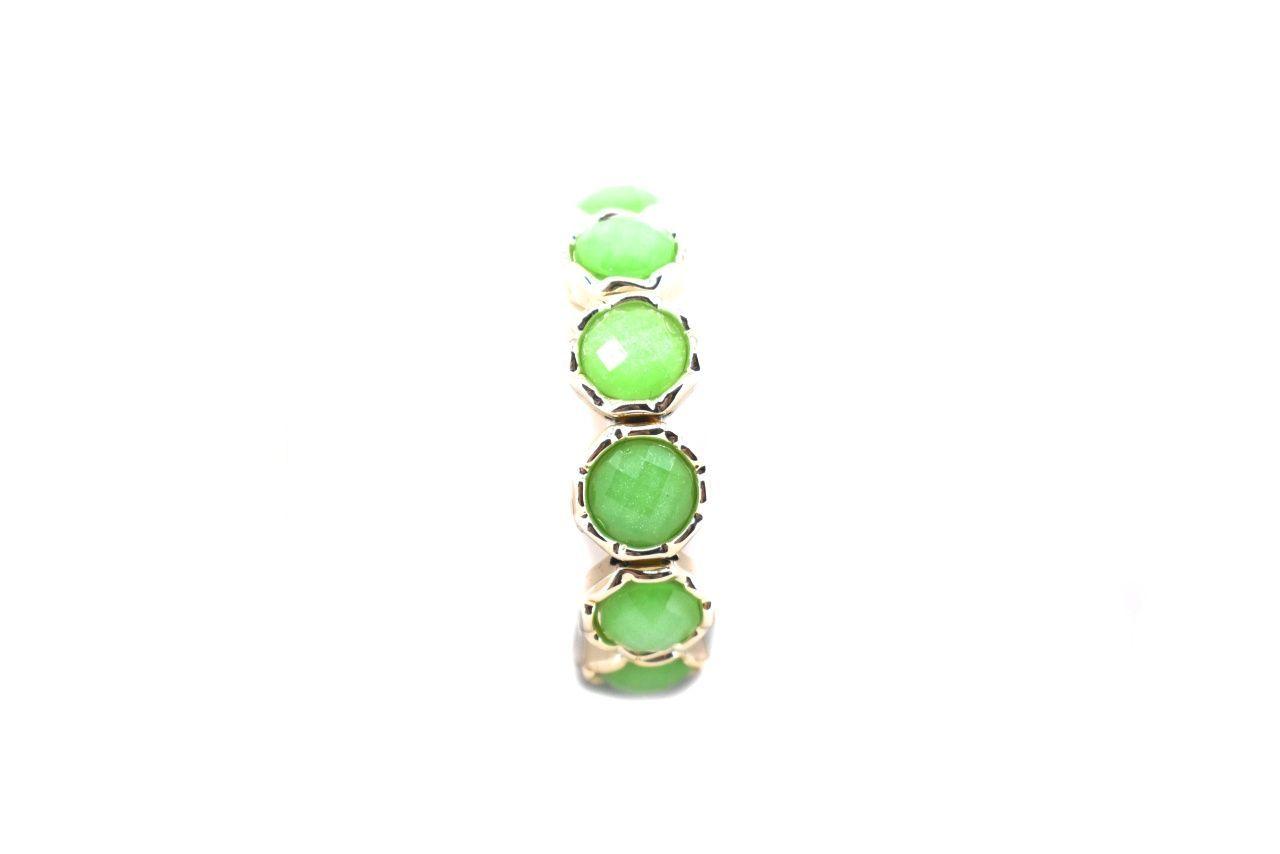 Pružný náramek - zelená