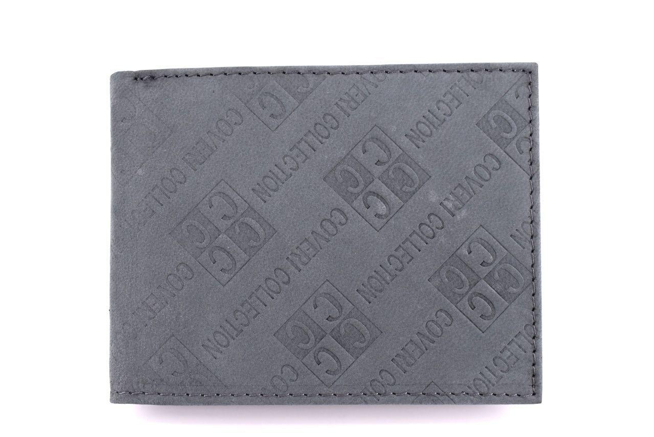 Pánská kožená peněženka Coveri Collection - šedá 31749