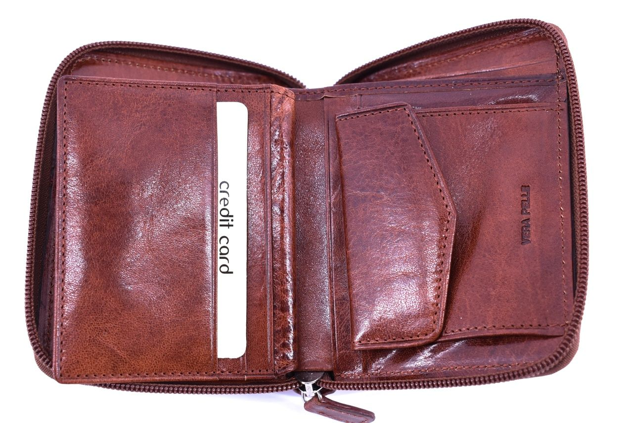 Dámská kožená peněženka černá 21356