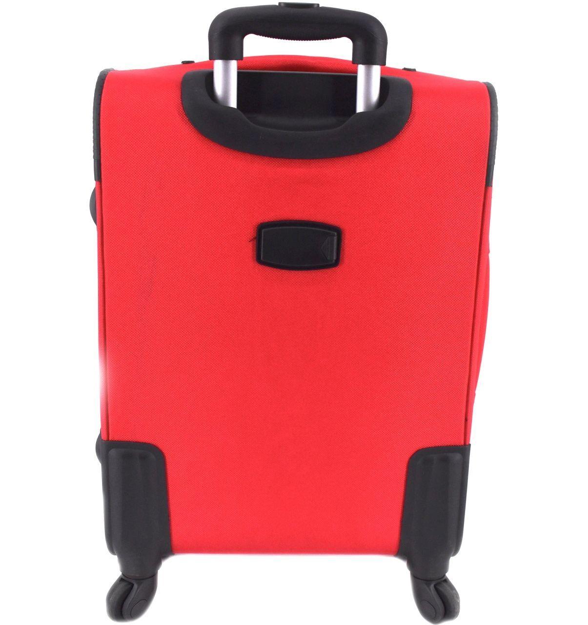 Cestovní textilní kufr na čtyřech kolečkách Agrado (M) 80l - béžová 8021 (M)
