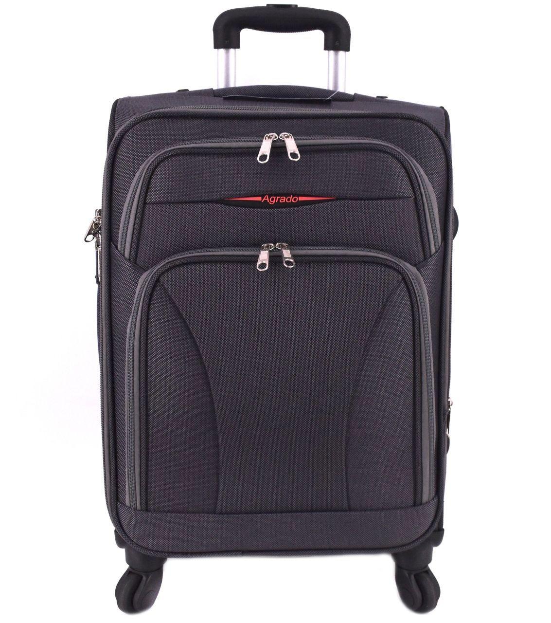 Cestovní textilní kufr na čtyřech kolečkách Agrado (M) 80l - tmavě šedá 8021 (M)
