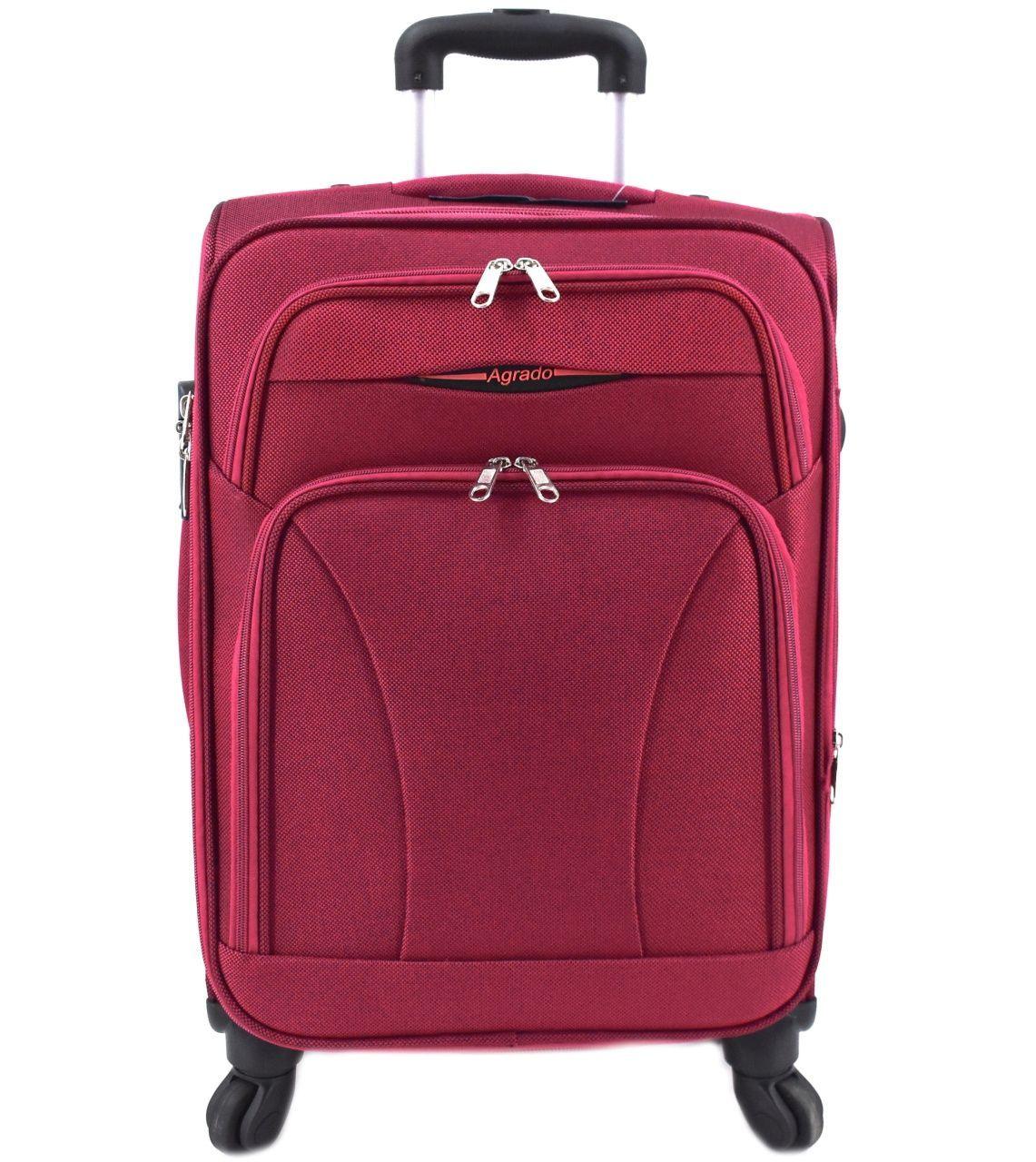 Cestovní textilní kufr na čtyřech kolečkách Agrado (M) 80l - vínová 8021 (M)