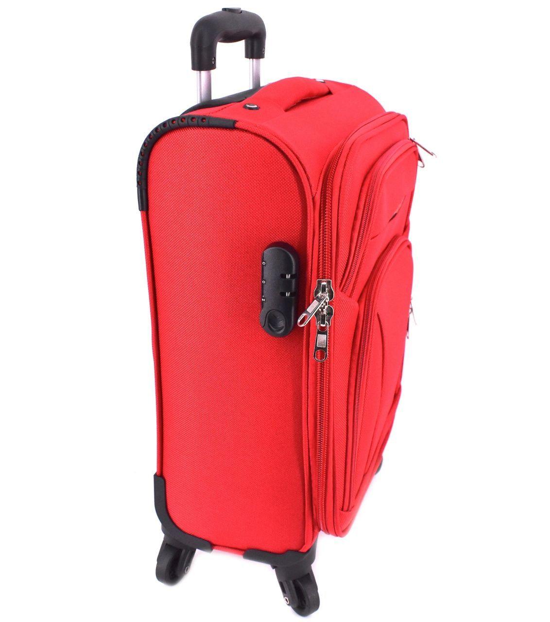 Cestovní textilní kufr na čtyřech kolečkách Agrado (XS) 35l - tmavě zelená 8021 (SX)