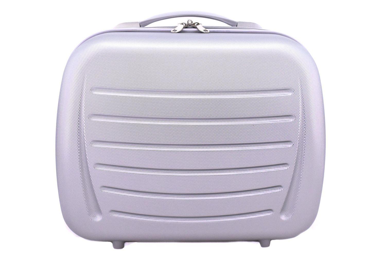 Kosmetický palubní příruční kufr Arteddy - stříbrná 40877