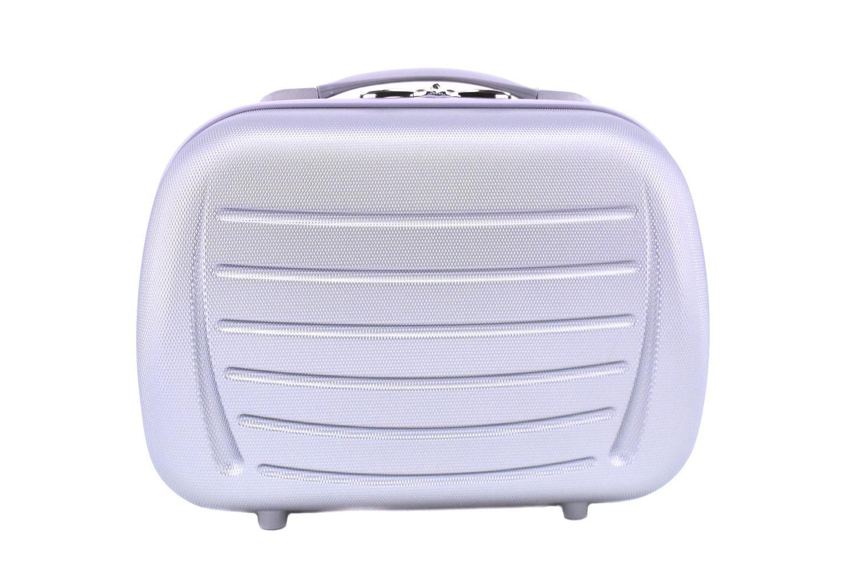 Kosmetický palubní příruční kufr Arteddy - stříbrná 40878