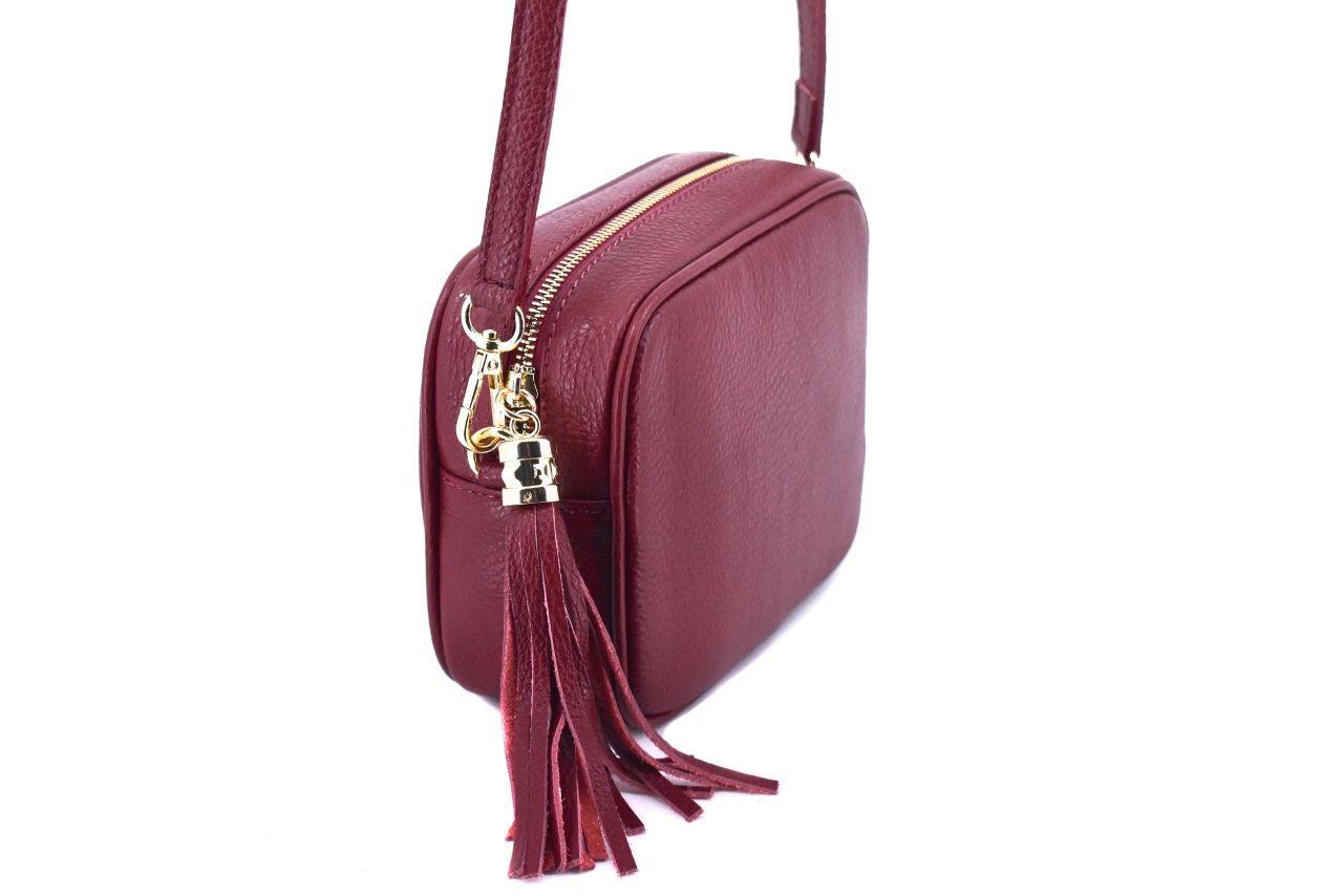 Dámská/dívčí kožená kabelka crossbody Arteddy - tmavě modrá 40885
