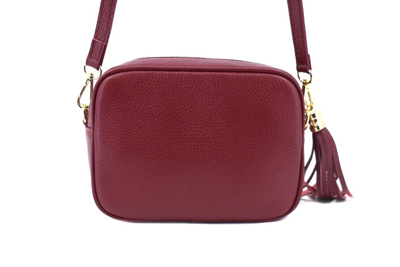 Dámská/dívčí kožená kabelka crossbody Arteddy - hnědá 40885