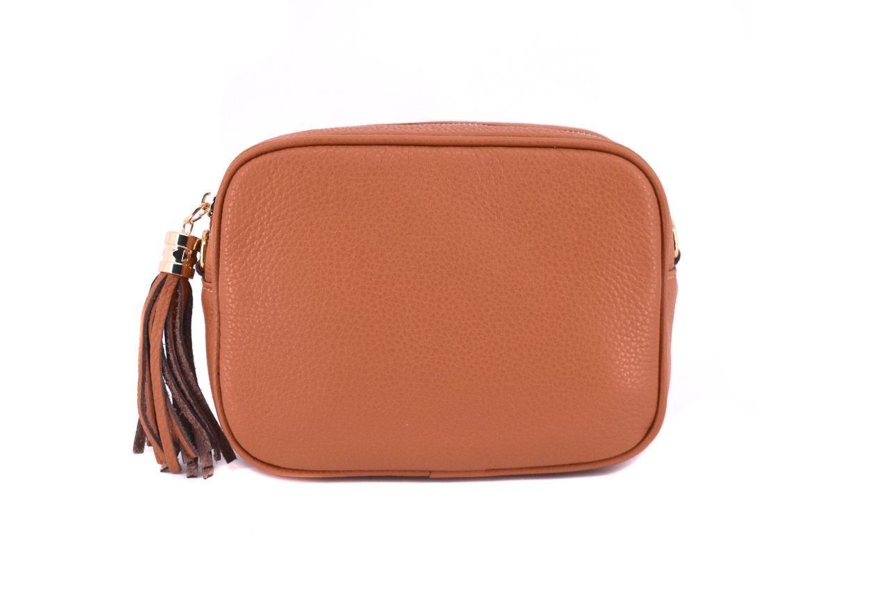 Dámská/dívčí kožená kabelka crossbody Arteddy - světle hnědá 40885
