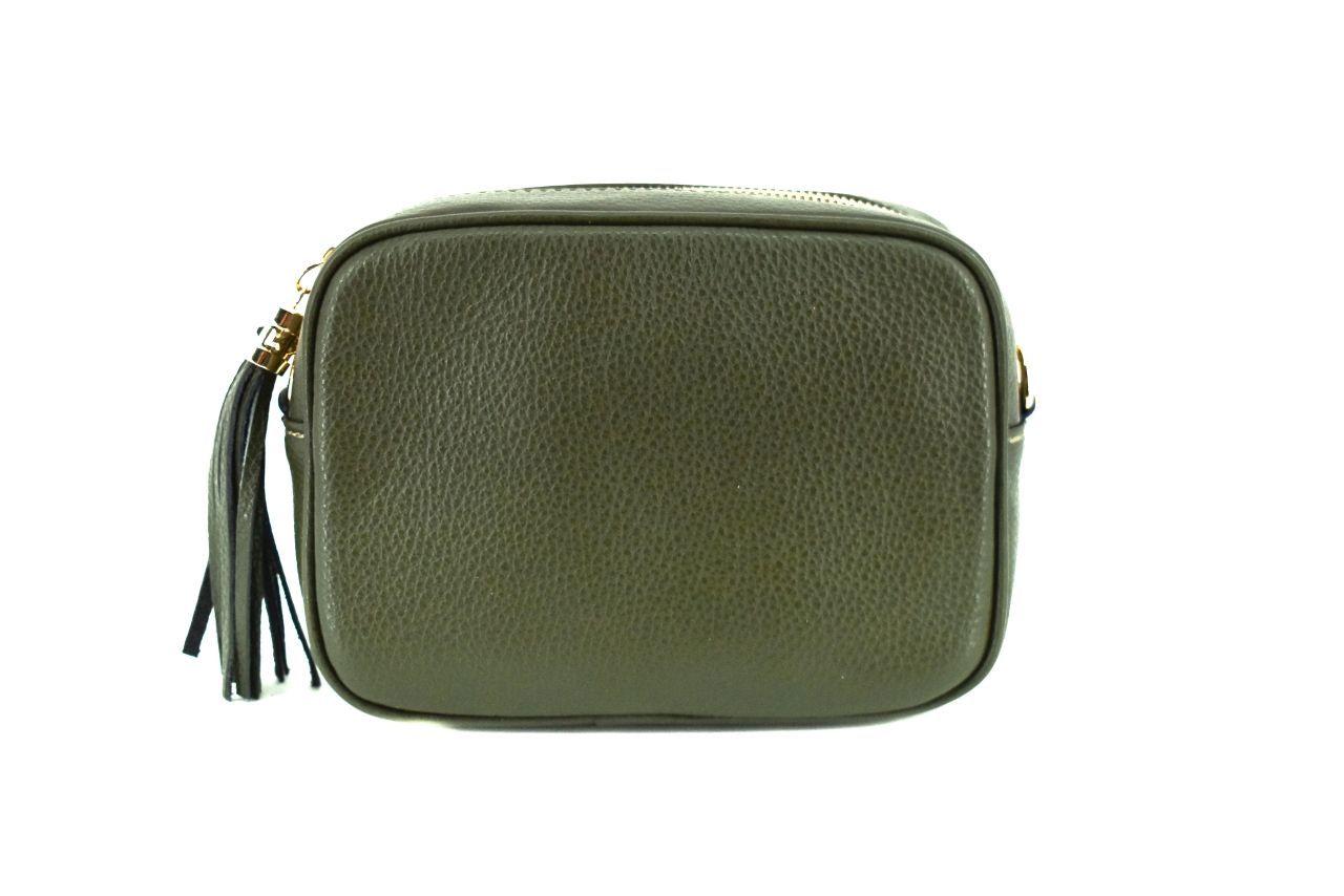 Dámská/dívčí kožená kabelka crossbody Arteddy - zelená 40885