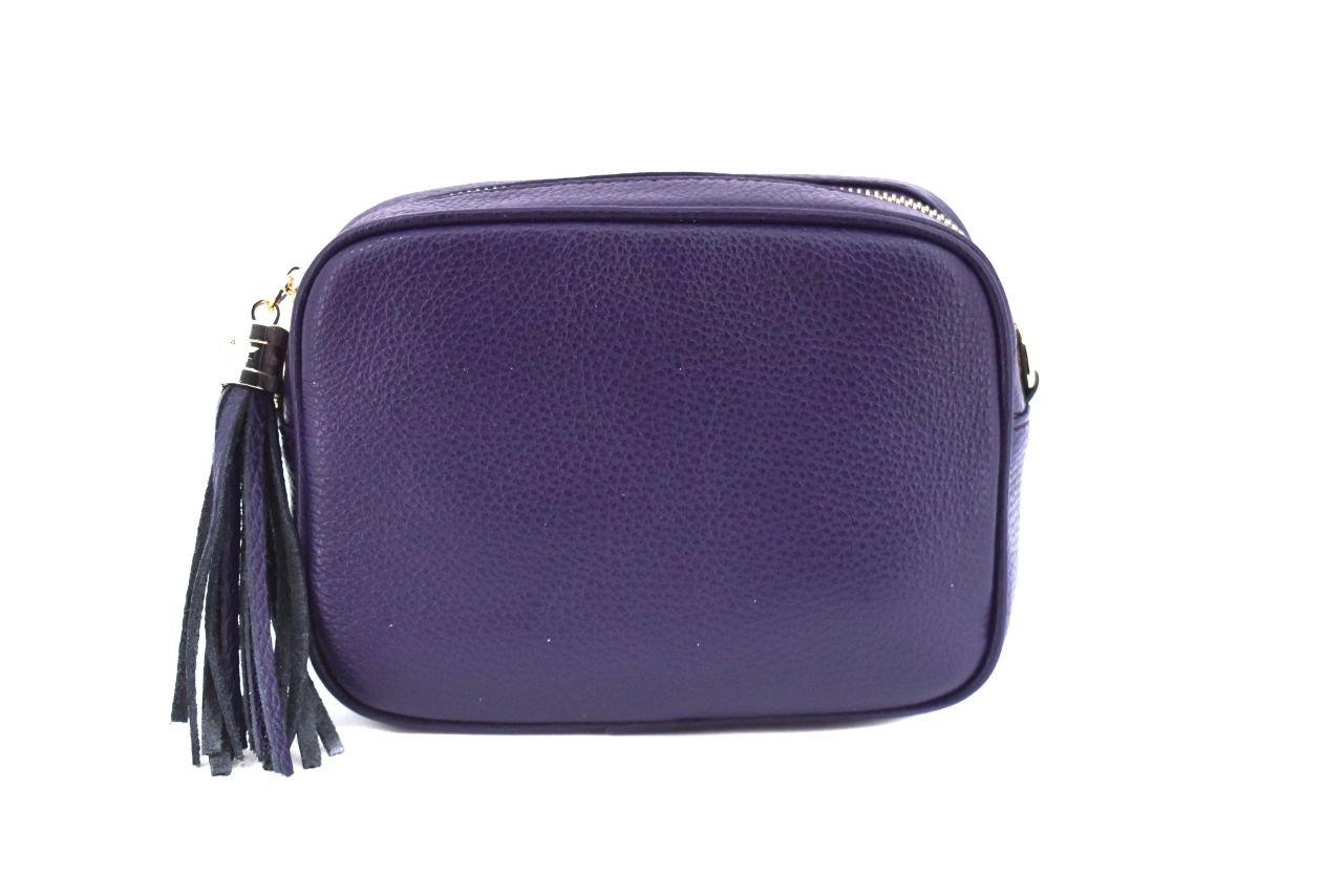 Dámská/dívčí kožená kabelka crossbody Arteddy - fialová 40885