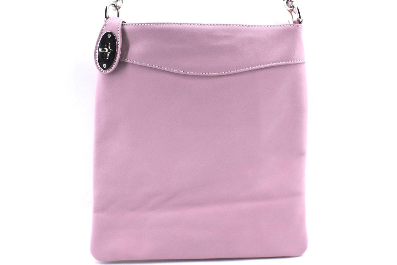 Dámská kožená kabelka crossbody Arteddy - růžová 34921