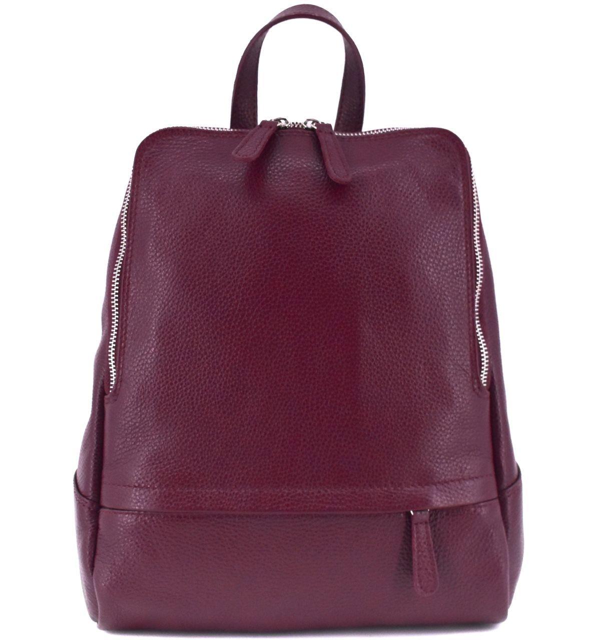 Dámský kožený batoh Arteddy - vínová 36931