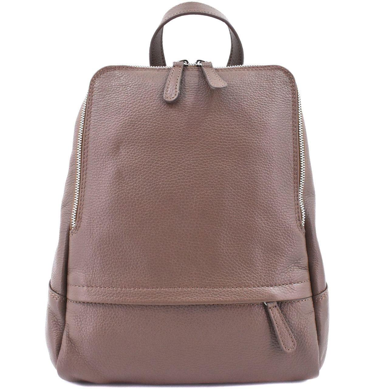Dámský kožený batoh Arteddy - hnědá 36931