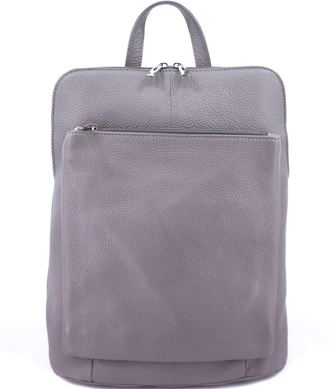 Dámský kožený batoh a kabelka v jednom / Arteddy - šedá 36933