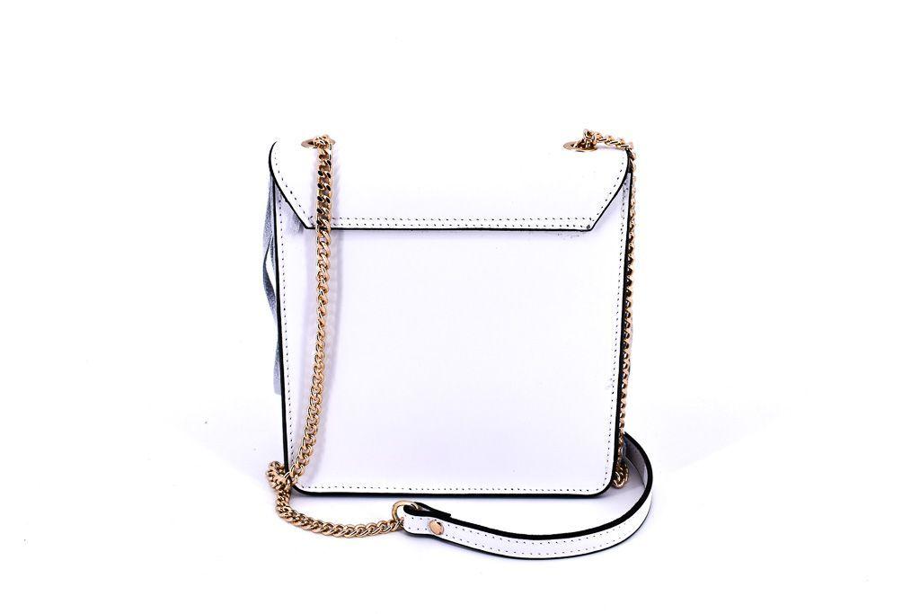 Dámská kožená kabelka crossbody Arteddy - krémová 32392