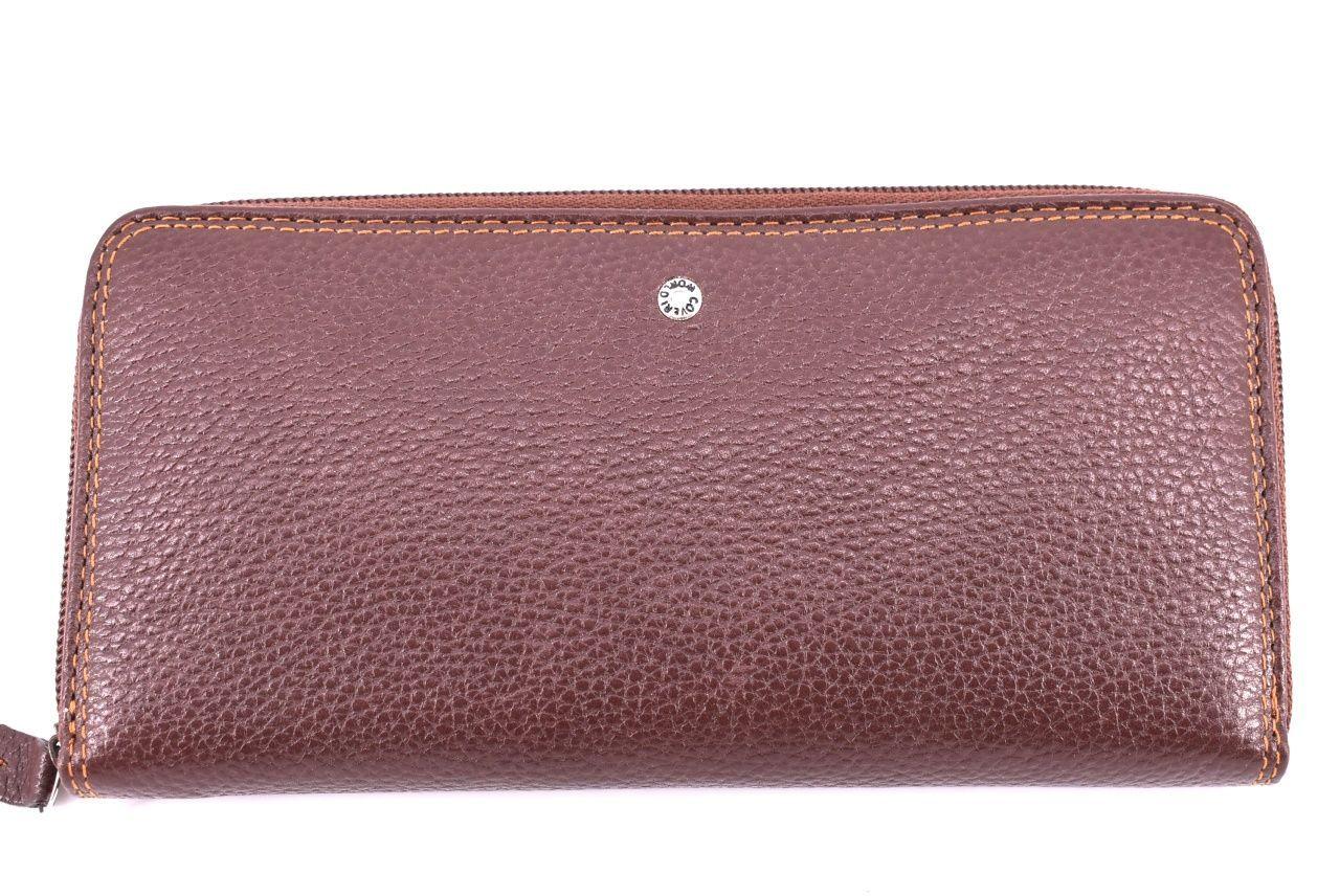 Dámská kožená peněženka Coveri World - pouzdrového typu tmavě hnědá 24624