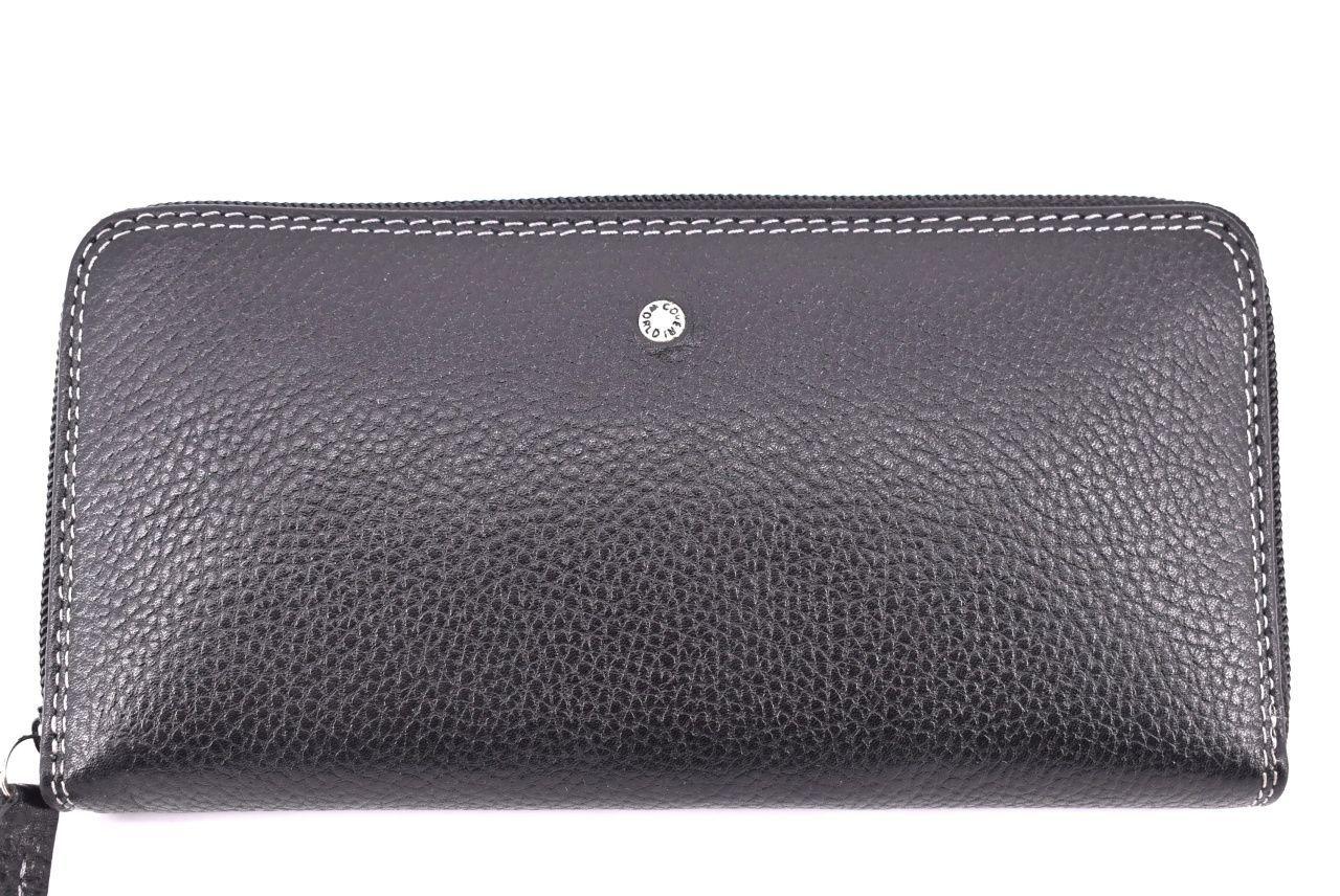 Dámská kožená peněženka Coveri World - pouzdrového typu černá 24624