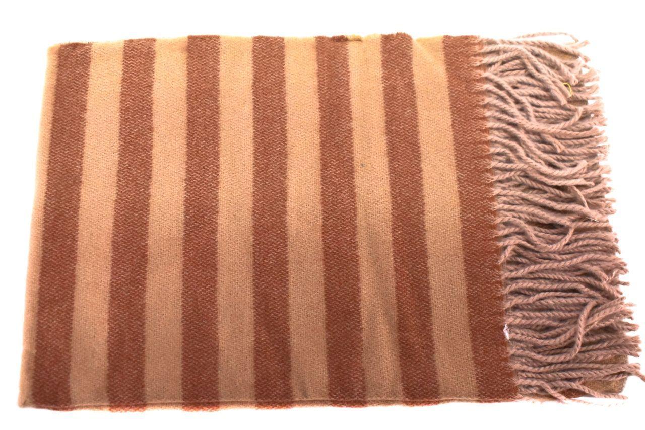 Pruhovaná šála s třásněmi - béžová