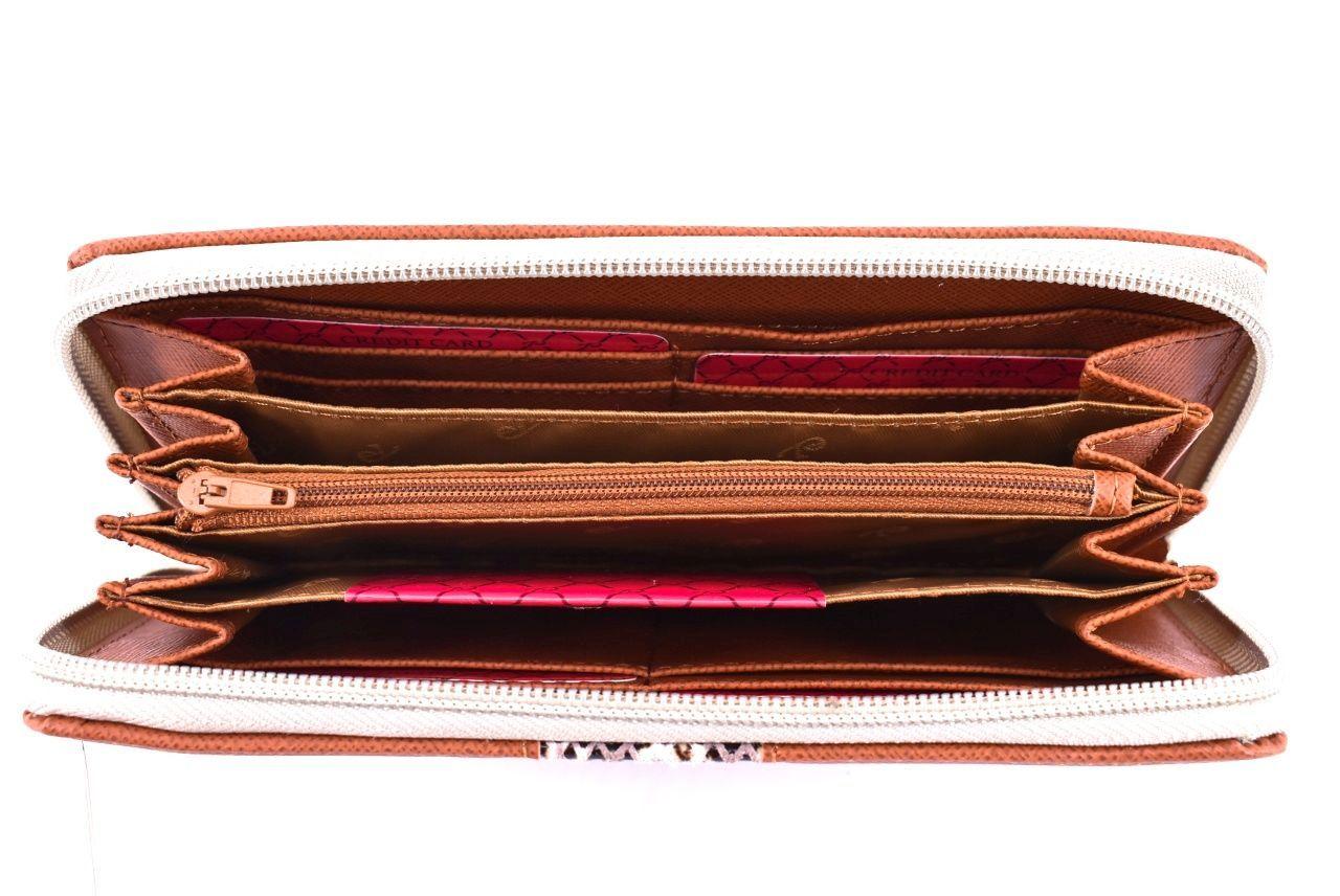 Dámská kožená peněženka Every - tmavě hnědá