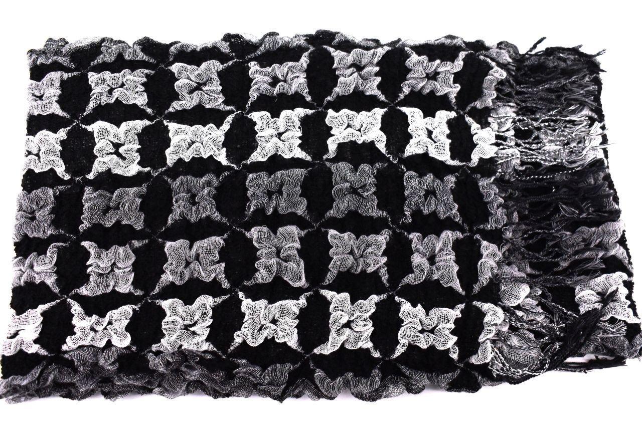 Zimní šála - černá