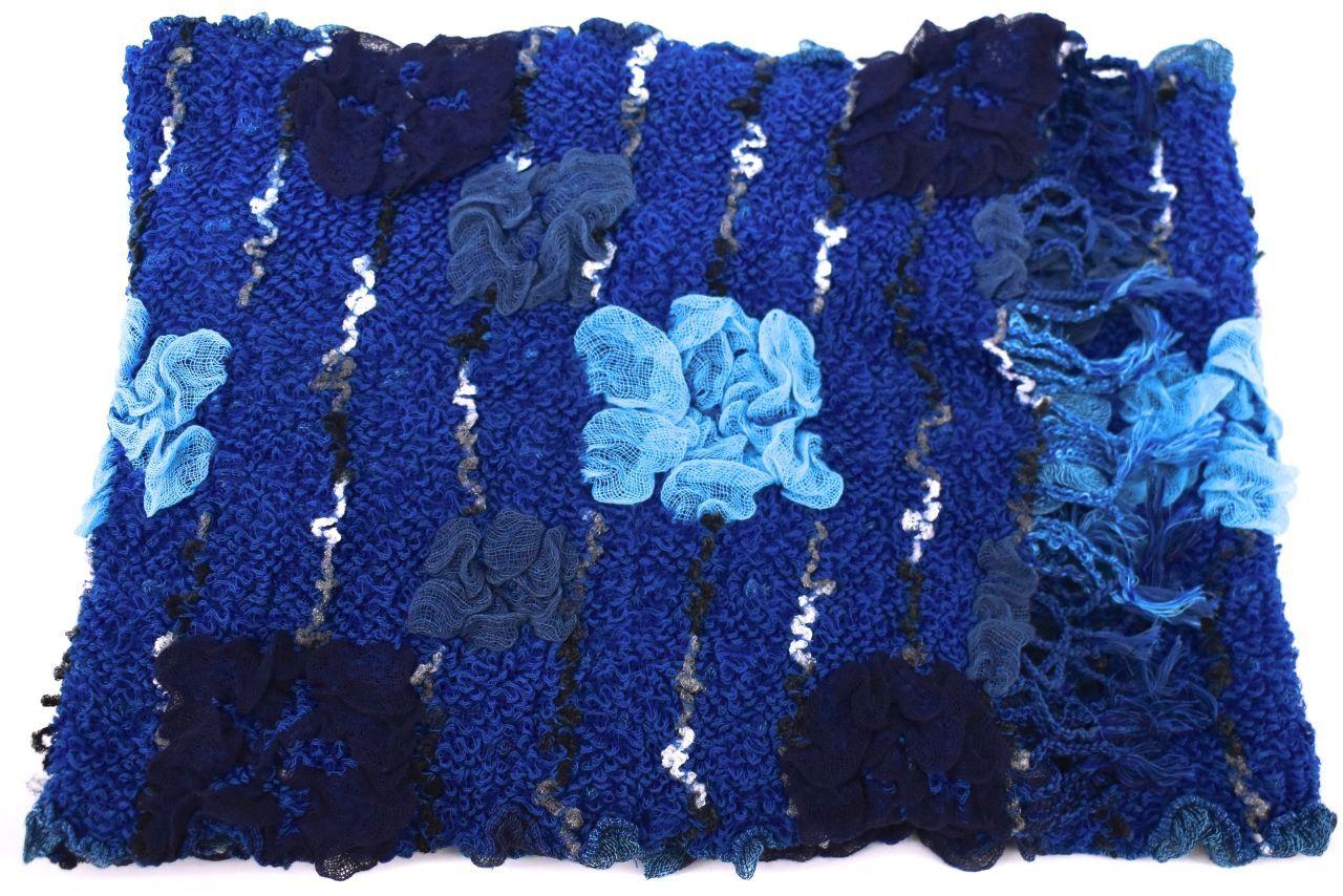 Zimní šála - modrá