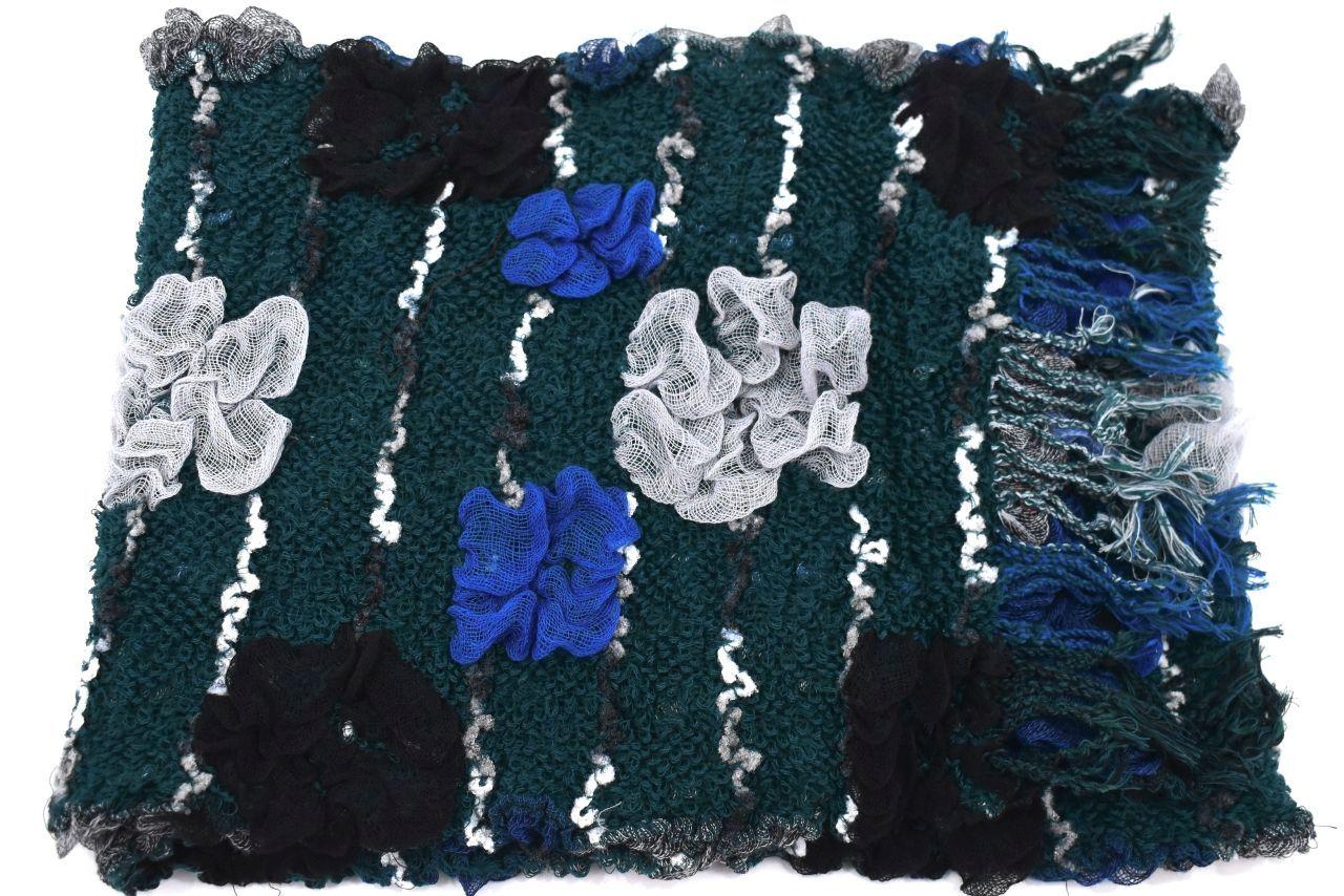 Zimní šála - zelená