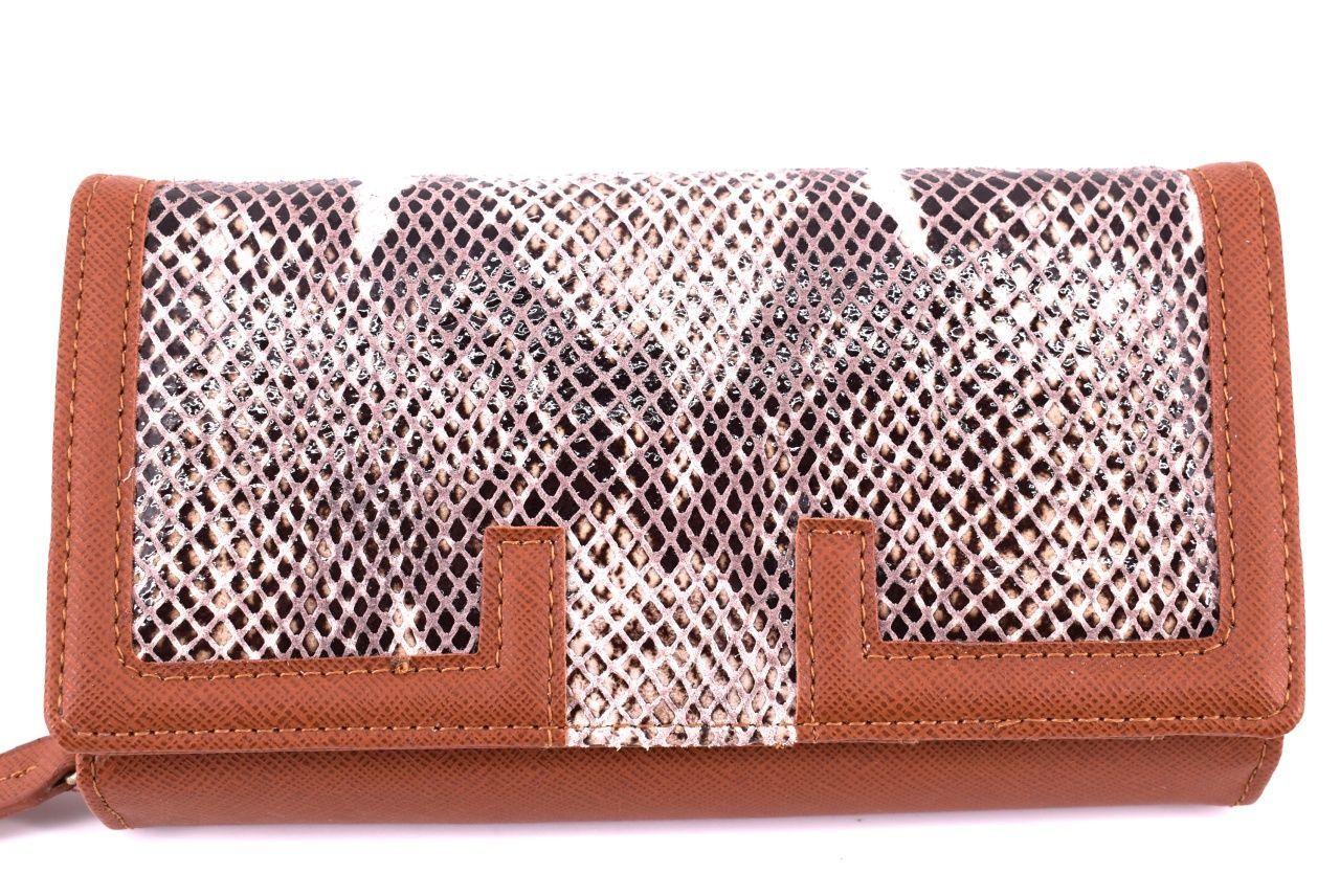 Dámská kožená peněženka Every - hnědá 24889