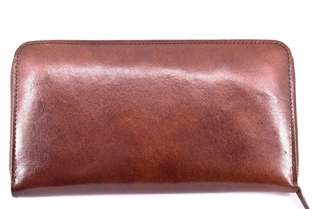 Dámská kožená peněženka tmavě hnědá