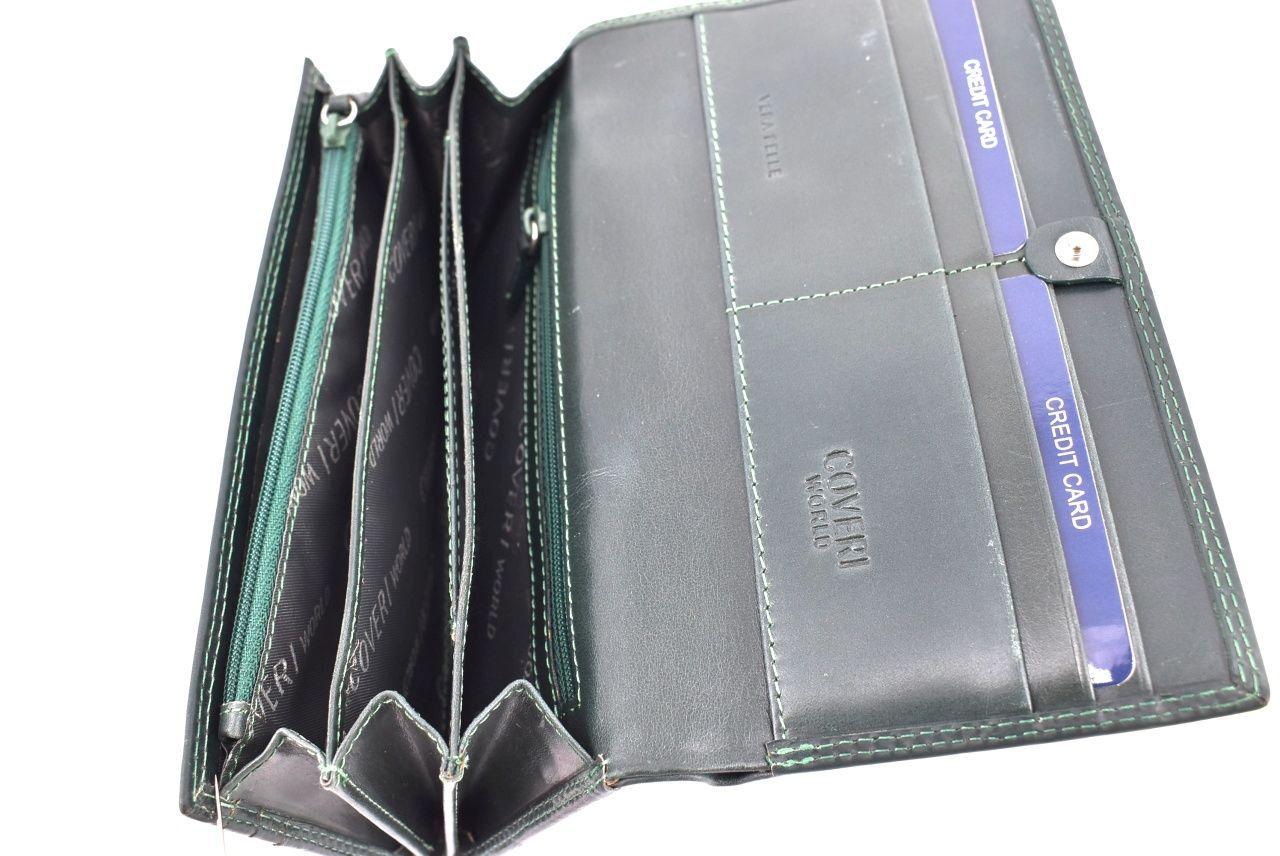 Dámská kožená peněženka Coveri World - černá 31732