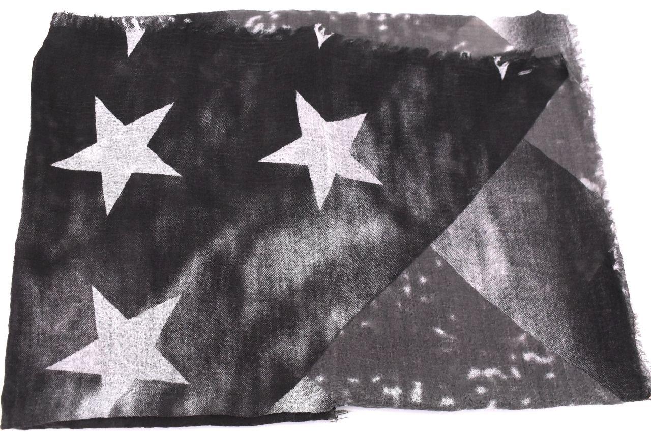 Dámský šátek s potiskem - černá