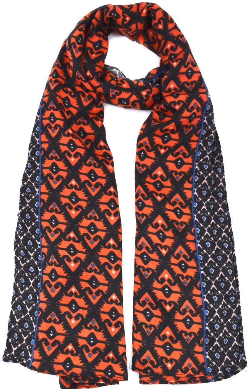 Šátek s potiskem - cihlová