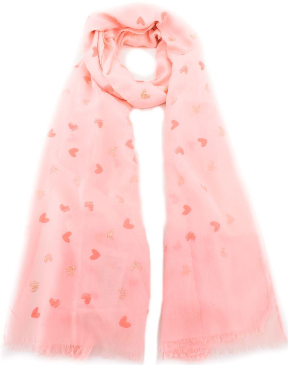 Šátek s potiskem - lososová