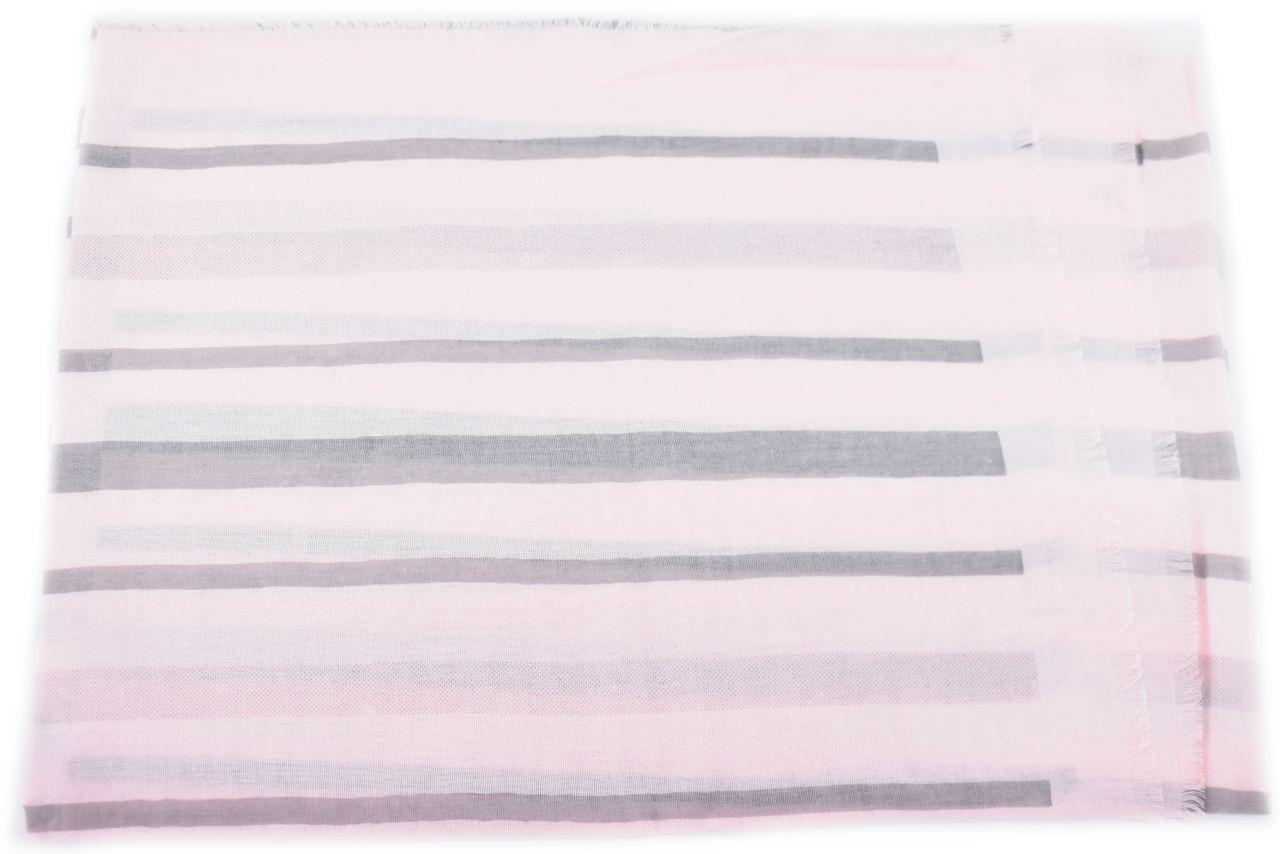 Pruhovaný šátek - světle růžová