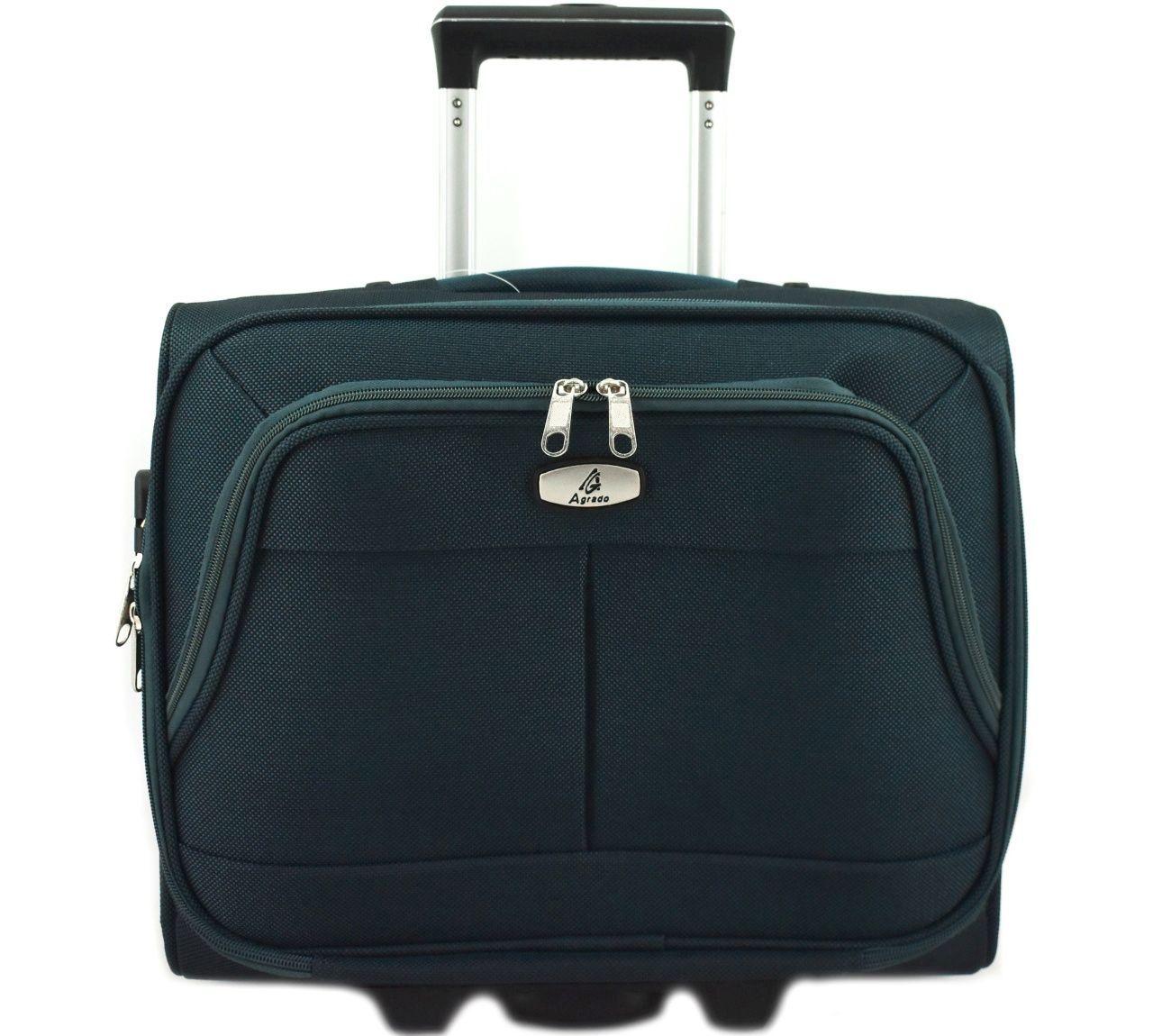 Pilotní textilní kufr - tmavě zelená 33953