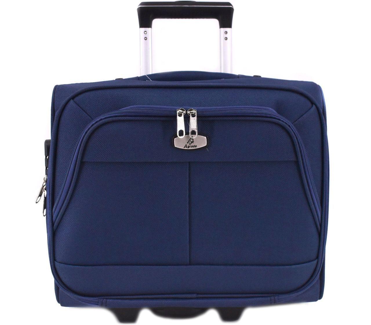 Pilotní textilní kufr - tmavě modrá 33953