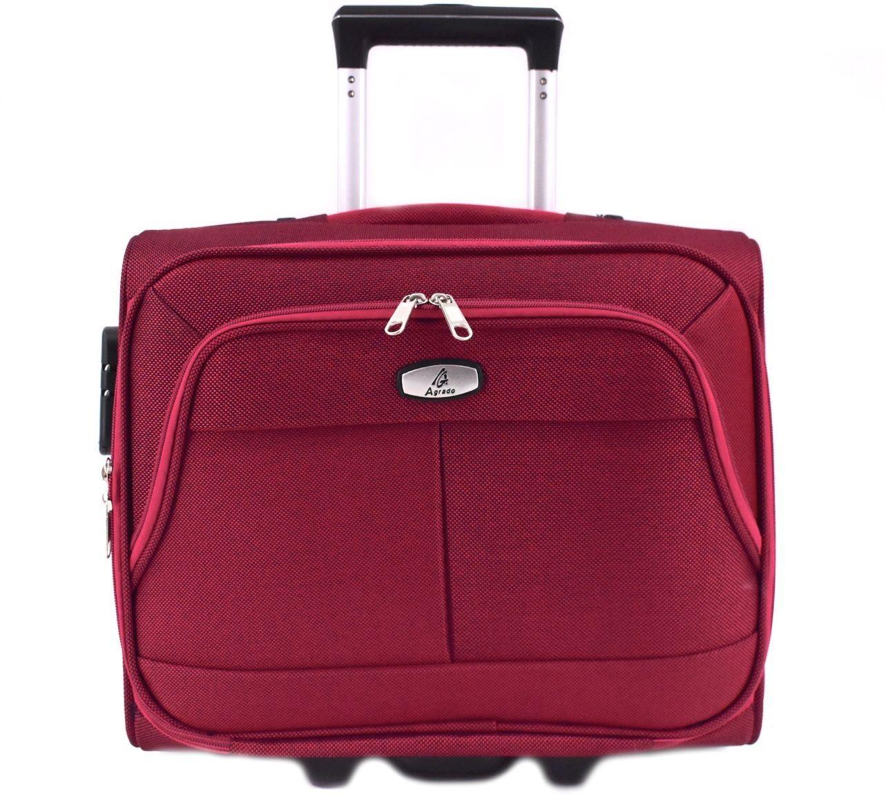 Pilotní textilní kufr - vínová 33953