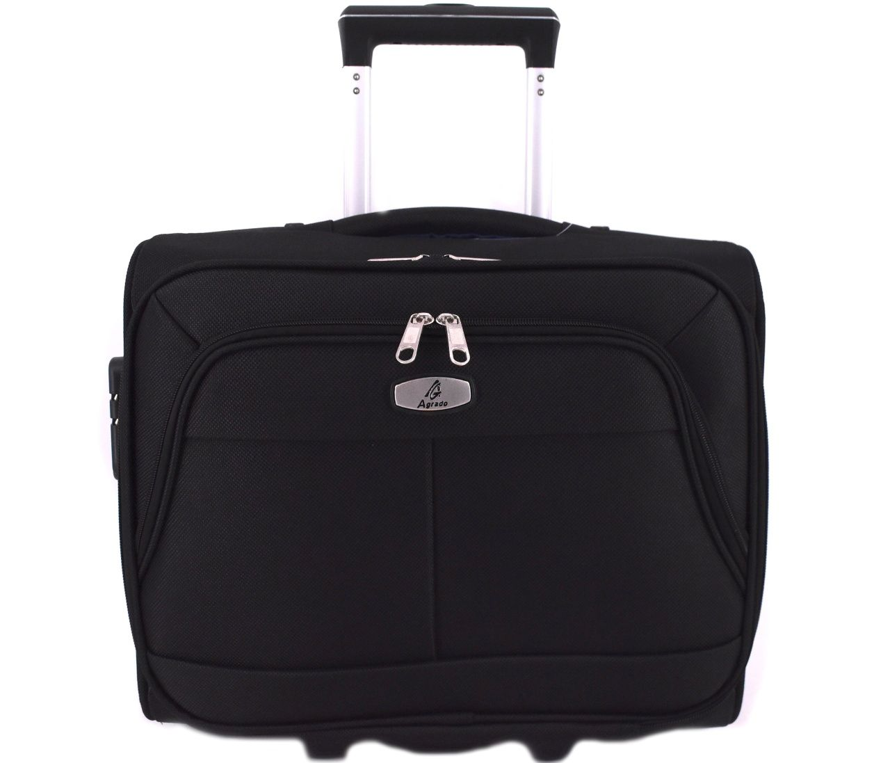 Pilotní textilní kufr - černá 33953