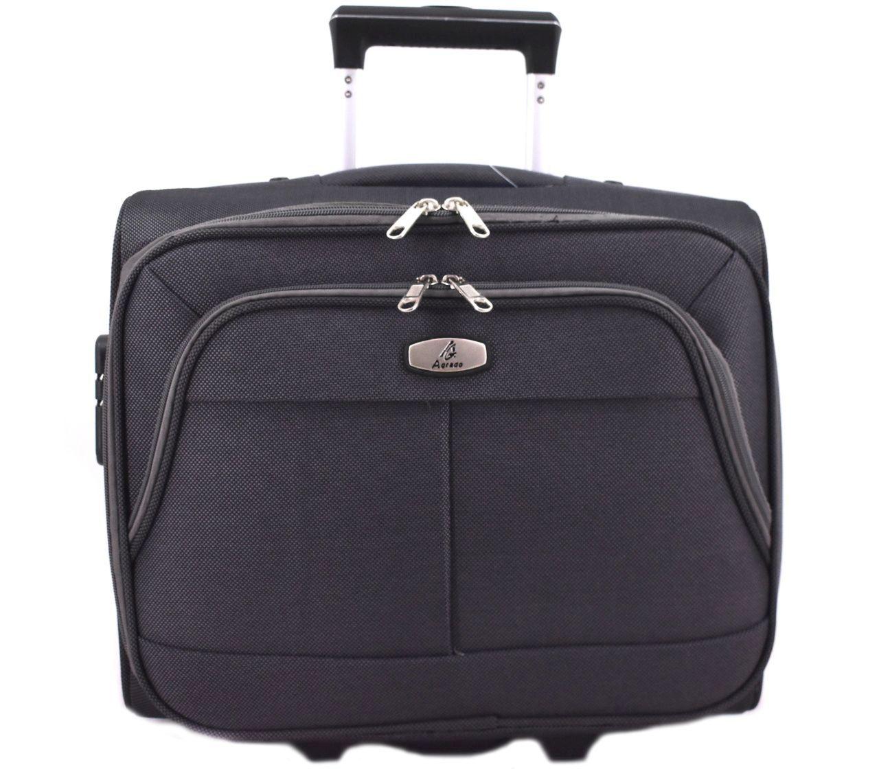 Pilotní textilní kufr - tmavě šedá 33953