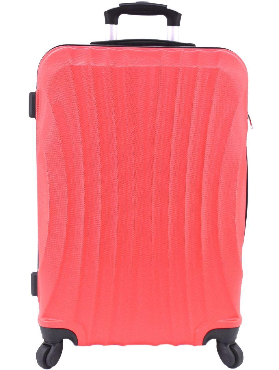Cestovní skořepina kufr na čtyřech kolečkách Arteddy - (M) 60l červená 6020 (M)