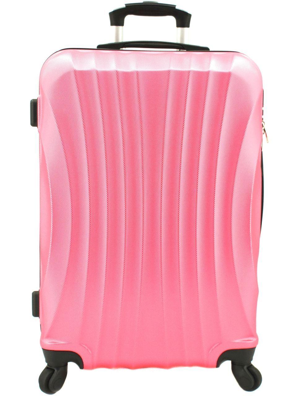 Cestovní skořepina kufr na čtyřech kolečkách Arteddy - (M) 60l růžová 6020 (M)