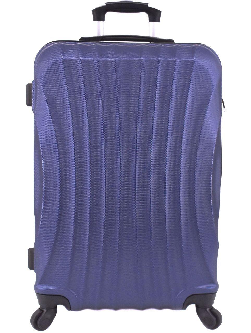 Cestovní skořepina kufr na čtyřech kolečkách Arteddy - (M) 60l tmavě modrá 6020 (M)